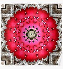 'Very Verbena Mandala' Poster