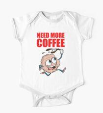 Need more coffee Caffeine brain One Piece - Short Sleeve