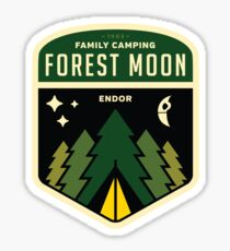 Forest Moon Camping Sticker