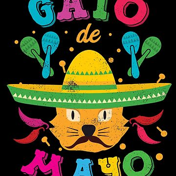 Cinco de Mayo Cat Cinco de Meow Kitten Sombrero by TheLariat