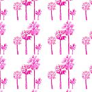 Tropical Pink Palms by LIMEZINNIASDES
