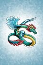 Birthstone Dragon: December Turquoise Illustration by Stephanie Smith