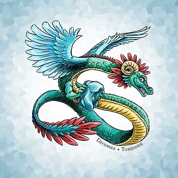 Birthstone Dragon: December Turquoise Illustration by stephsmith
