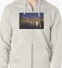 Docklands night Zipped Hoodie