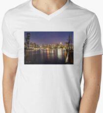 Docklands night V-Neck T-Shirt