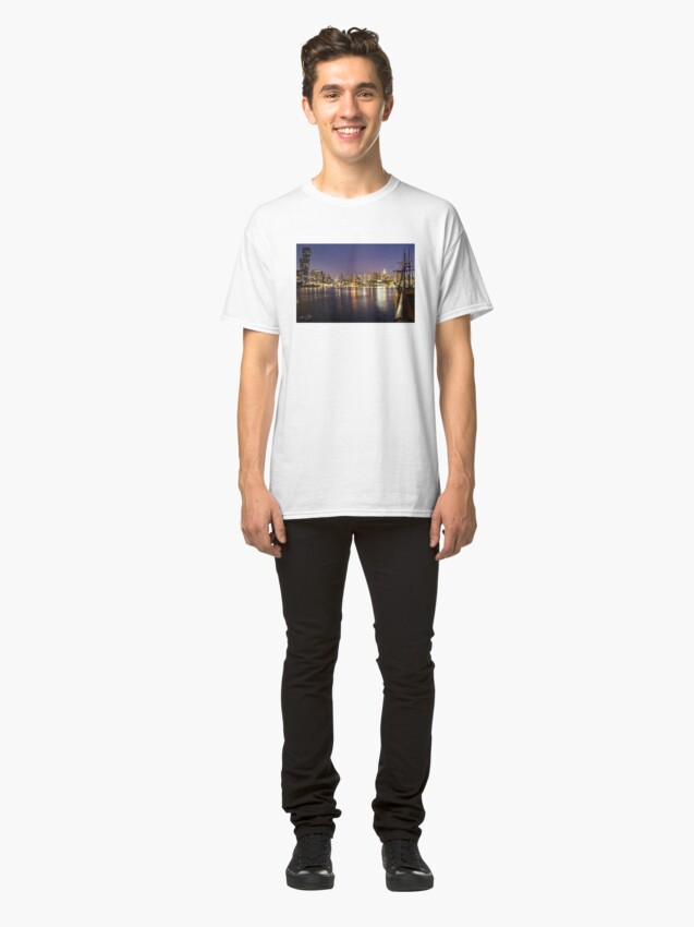 Alternate view of Docklands night Classic T-Shirt