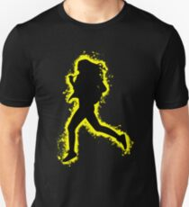 Silhouette fit yellow and black silhouette Unisex T-Shirt