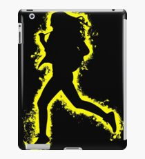 Silhouette fit yellow and black silhouette iPad Case/Skin