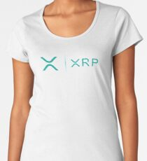 XRP RIPPLE NEW MINTY TEAL LOGO SIDE BY SIDE Women's Premium T-Shirt