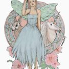 Blue Fairy Illustration by Pamela Weisberg
