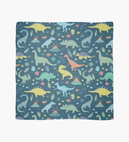 Dinosaurs and Volcanoes Scarf