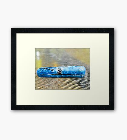 Kyanite healing massage wand  Framed Print