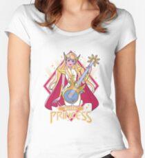 Eternia Rockstar (golden) Tailliertes Rundhals-Shirt