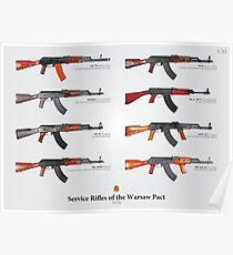 Póster Rifles de servicio del Pacto de Varsovia