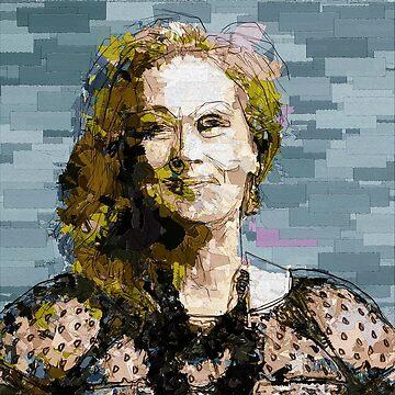 Meryl Streep [Mixed Media] by michaelroman