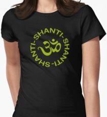 Yoga Shanti Shanti Shanti Om Yoga T-Shirt Women's Fitted T-Shirt