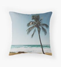 Palm Tree By The Beach  Floor Pillow