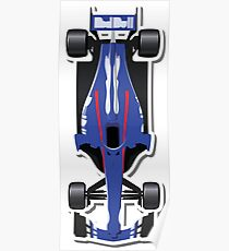 Toro Roso Draufsicht APEX Race Manager 2018 Poster