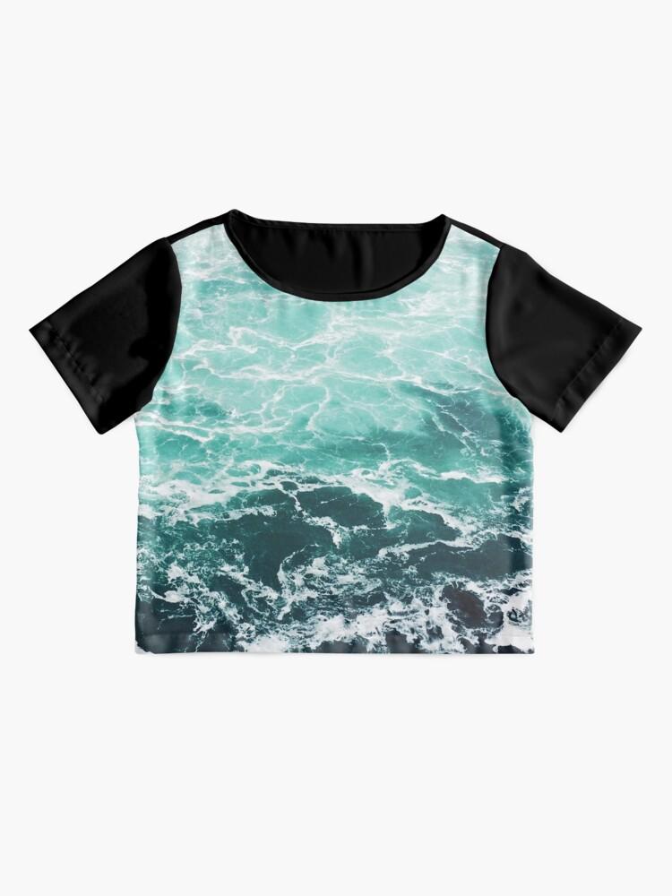 Alternative Ansicht von Blauer Ozean Sommer Strand Wellen Chiffon Top