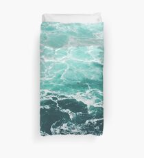 Blue Ocean Summer Beach Waves Duvet Cover