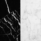 Black and White Marble Pattern by AlexandraStr