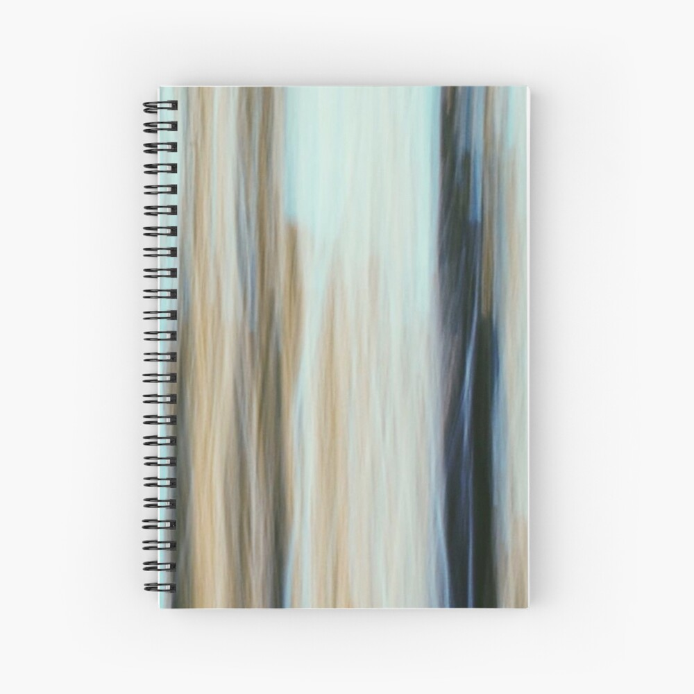 Minimal Abstract Line Pattern Spiral Notebook
