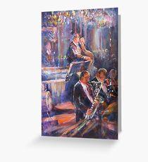 Dance Band - Music Art Gallery Greeting Card