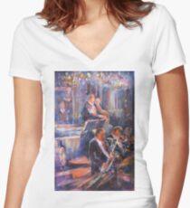 Dance Band - Music Art Gallery Women's Fitted V-Neck T-Shirt