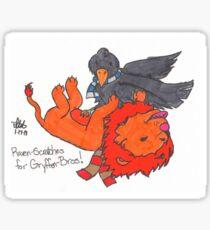 Raven scratches Sticker