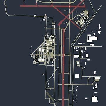 OSH Wittman Regional Airport Oshkosh Wisconsin Airport Art Print by RealPilotDesign