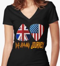 bonapa Def music Journey  Women's Fitted V-Neck T-Shirt
