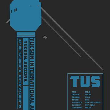 TUS Tucson Airport Air Traffic Control Tower Art Print by RealPilotDesign