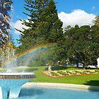 Art Deco-Brunnen-Regenbogen - Jellicoe Park, Auckland, NZ von CleverCharles