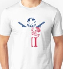 Three Percenter Oath Keeper Skull and III Texas Flag Unisex T-Shirt
