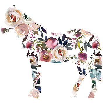 Floral Horse Gift for Horse lover  by YuliyaR