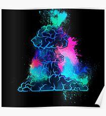 Hiroshima mushroom cloud colorful Poster