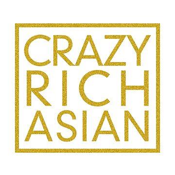 Gold Glitter Crazy Rich Asians T Shirt for Asian Men Fashion by DollarPrints