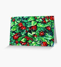 Ladybugs in the Hedge Greeting Card