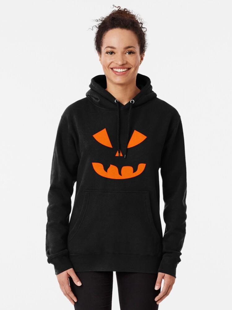 Alternative Ansicht von Halloween Kürbisgesicht Hoodie