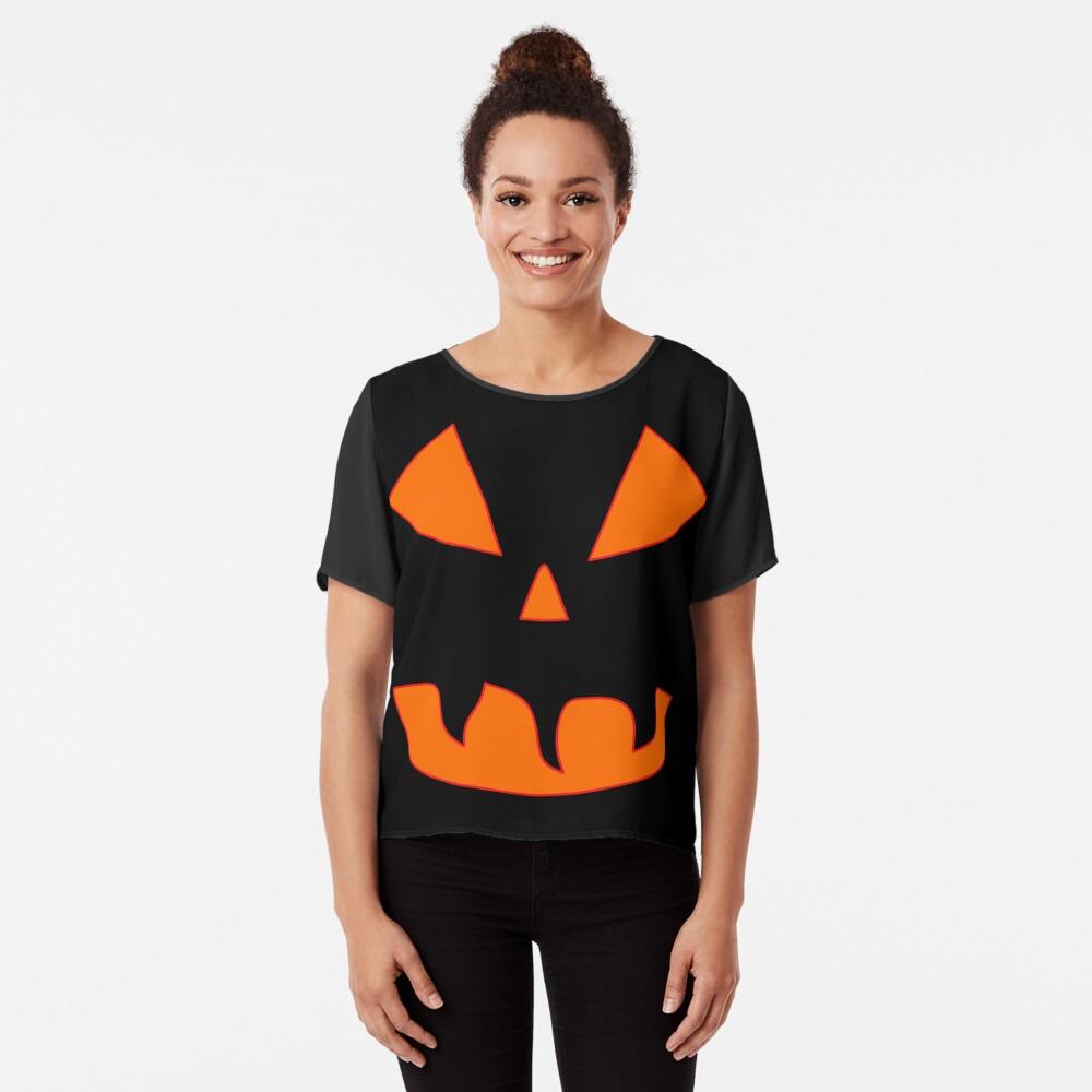 Halloween Kürbisgesicht Chiffon Top