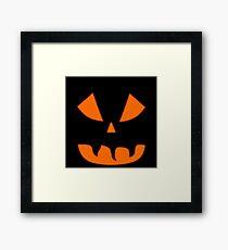 Halloween Kürbisgesicht Gerahmtes Wandbild
