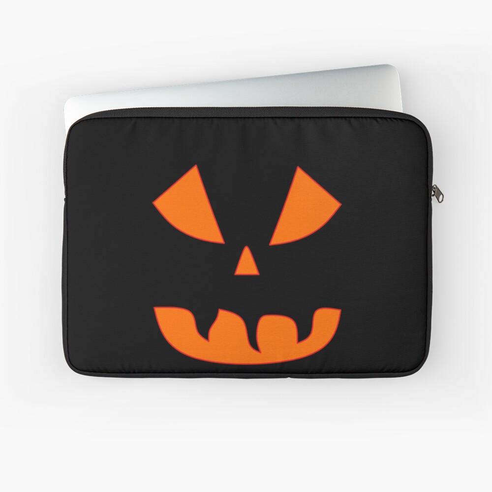Halloween Kürbisgesicht Laptoptasche