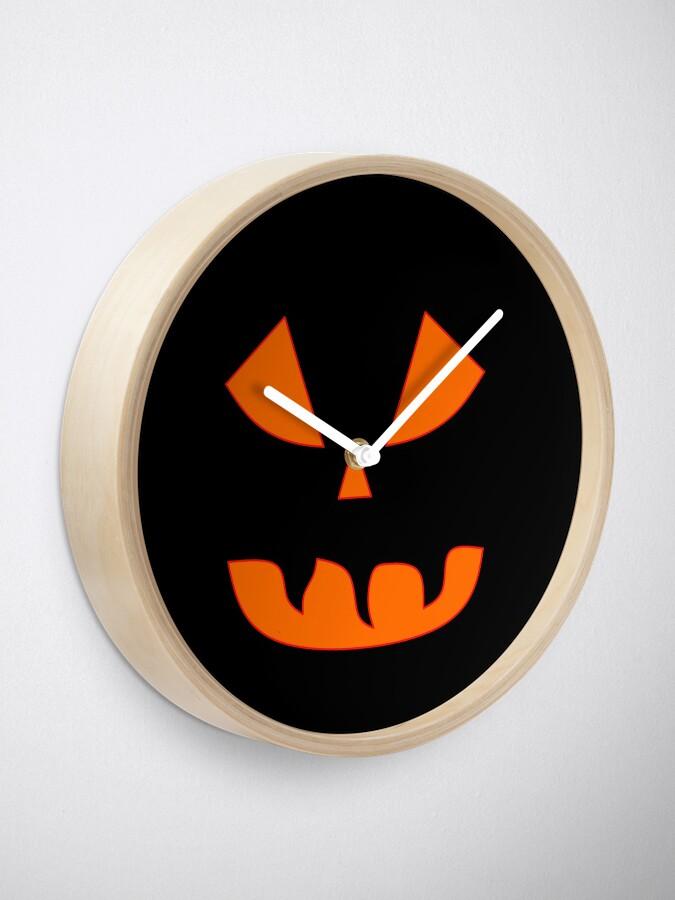 Alternative Ansicht von Halloween Kürbisgesicht Uhr