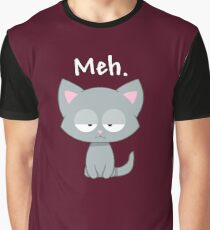 Meh | Funny Kitty Cat | Graphic T-Shirt