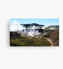Craters of Steam - Craters of the Moon, Taupo Canvas Print
