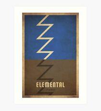 Elemental Shaman - WoW Minimalism Art Print