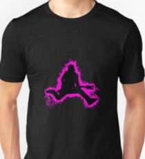 Guitarist jump pink and black silhouette Unisex T-Shirt