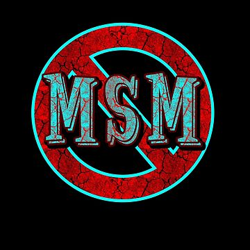 NO MAINSTREAM MEDIA teal/red distress by sleepingmurder
