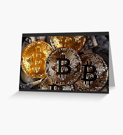 CRYPTO B by RootCat Greeting Card
