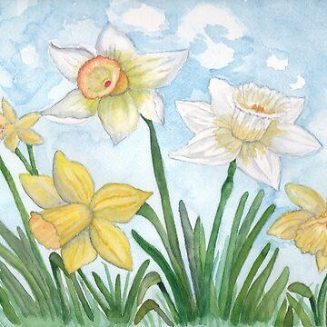 Spring Daffodils by Lallinda